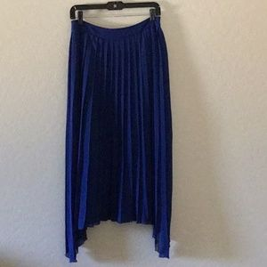 KENSIE Womens Blue Pleated Maxi Hi-Lo Skirt size s
